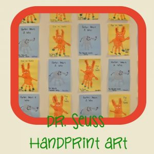 Dr seuss handprint art